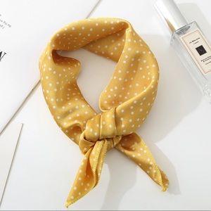 Accessories - Yellow & White Polka Dot Neck Scarf